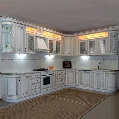 кухня белая угловая купить в Москве
